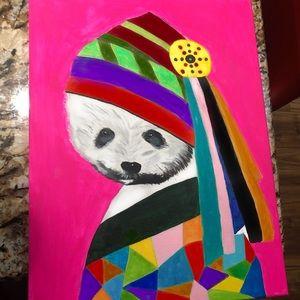 Beautiful multicolor Panda painting